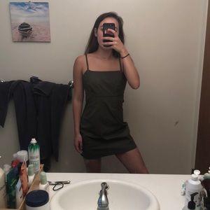 Pacsun Dark green bodycon dress